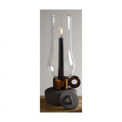 CANDLE HOLDER ANTHRACITE/COPPER - LANTERNA