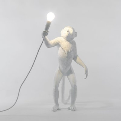 MONKEY LAMP WHITE - STANDING